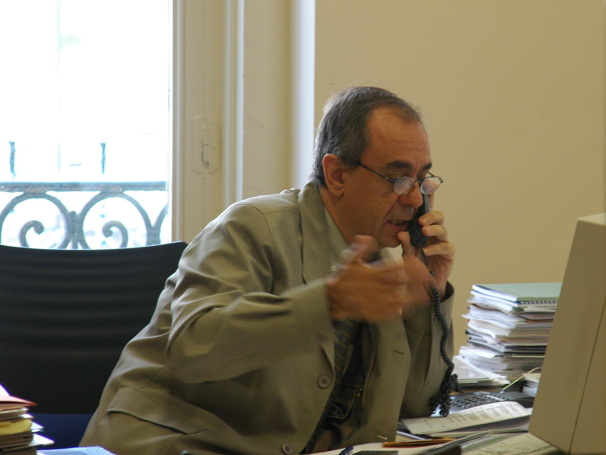 Luis Jurado trabajando en COAM 1